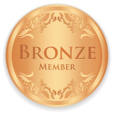 Bronze member badge with vintage pattern