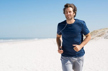 Man jogging with music