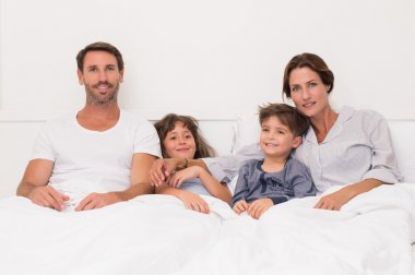 Family at bed