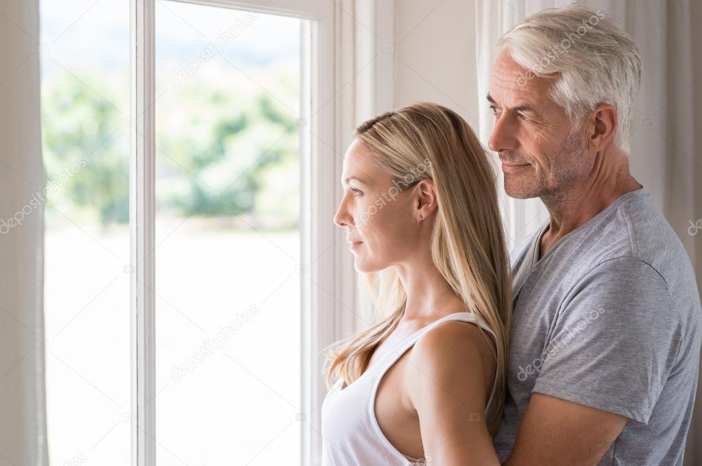 Couple Mature mature couple contemplation — stock photo © ridofranz #109354706