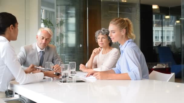 Multiethnic businesswoman in a meeting