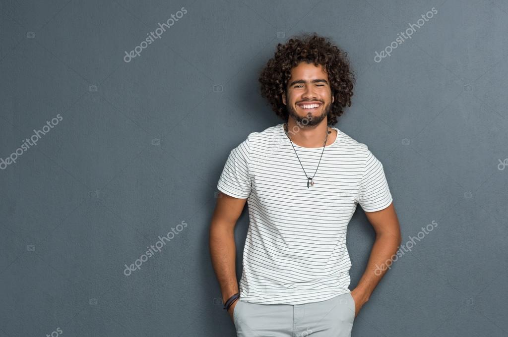 Cheerful man smiling