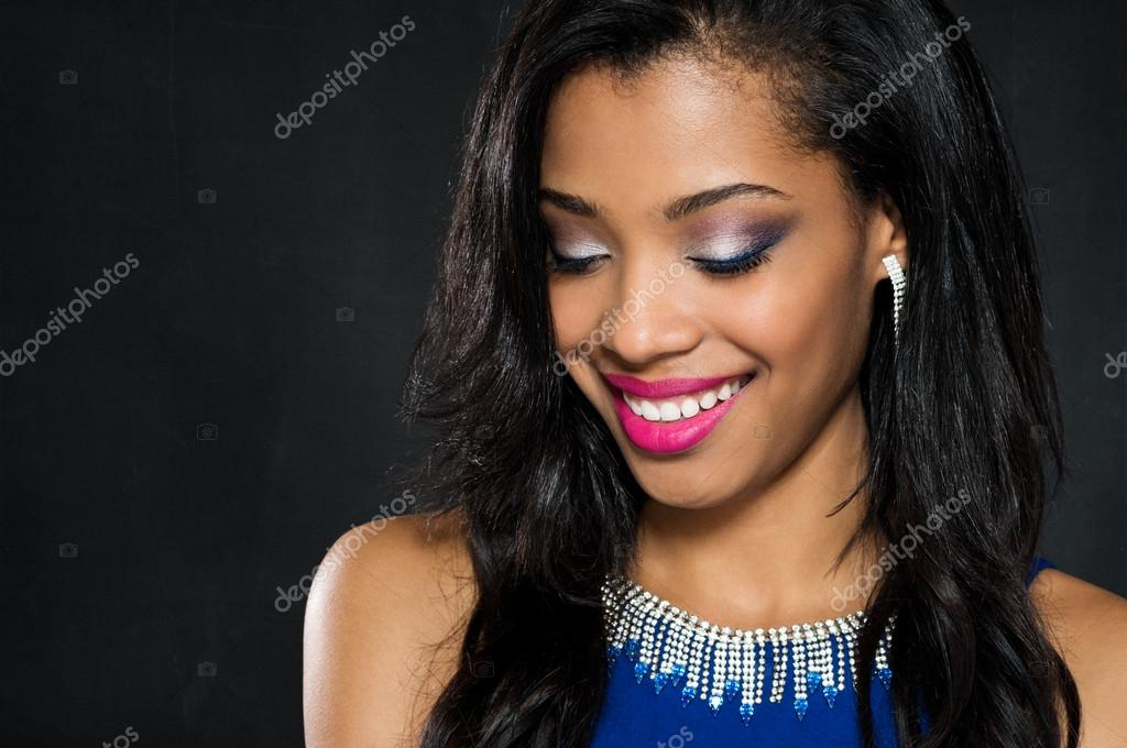 Junge Mode Frau Trägt Blaues Kleid Stockfoto Ridofranz 65785807
