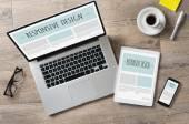 Fotografie Design und Web-Geräte reagieren