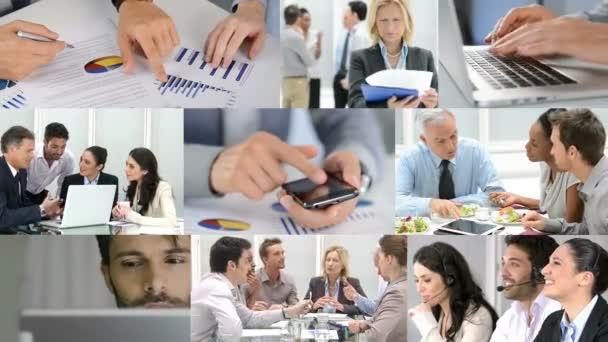 Složení různých video představující život podnikání
