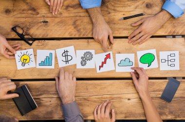 Business concepts on desk