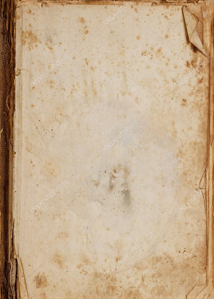 Vintage old paper book background or texture stock photo for Vintage book paper