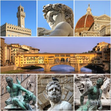 Florence collage, Italy