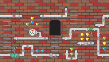 Seamless editable room with pipeline for platform game design