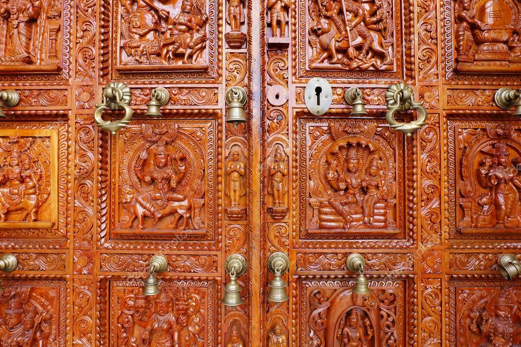 Hindu temple door u2014 stock photo © nic9899 #97758774
