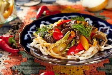 Noodles with Laghman Sauce