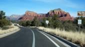 Panoramica della highway 163 attraverso la valle del monumento, arizona