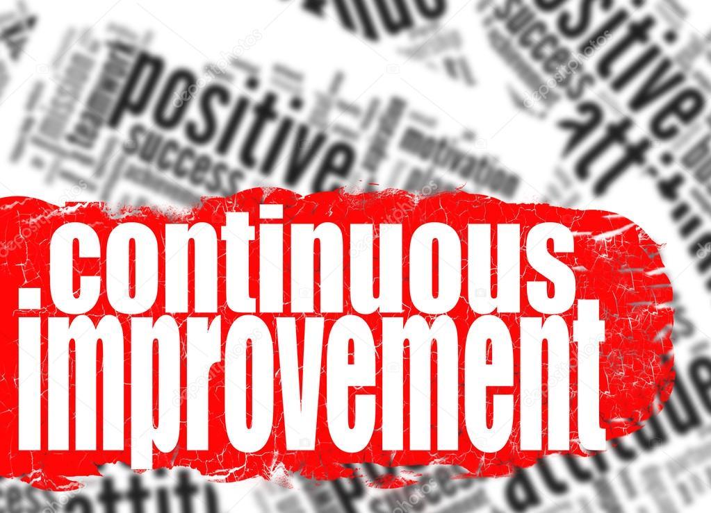 Continuous improvement word cloud — Stock Photo ...