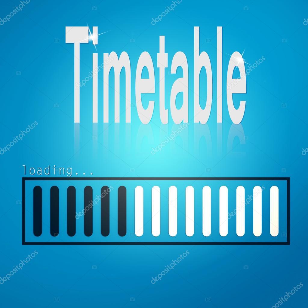 Blaue Ladebalken mit Zeitplan Wort — Stockfoto © tang90246 #81990238
