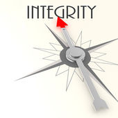 Compass with integrity word