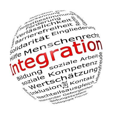 Integration Wordcloud - 3D illustration