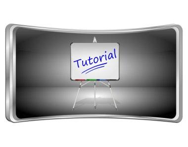 Tutorial Button - 3D illustration