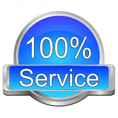 Hundred percent service button