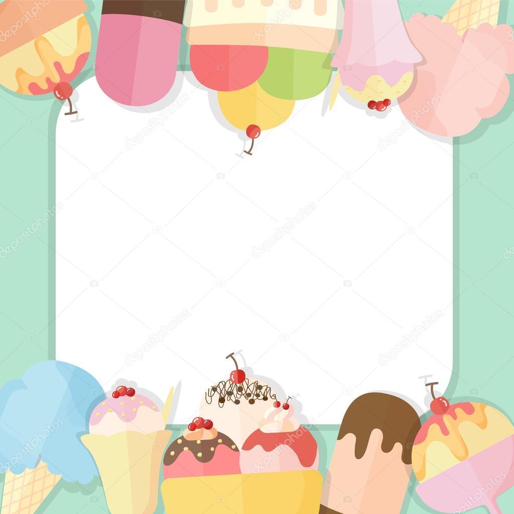 Summer Ice Cream Wallpaper: Stock Vector © Bossaviva