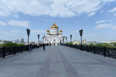 MOSCOW, - MAY 15: Cathedral of Christ the Savior. MAY 15, 2015 in Moscow, Russia