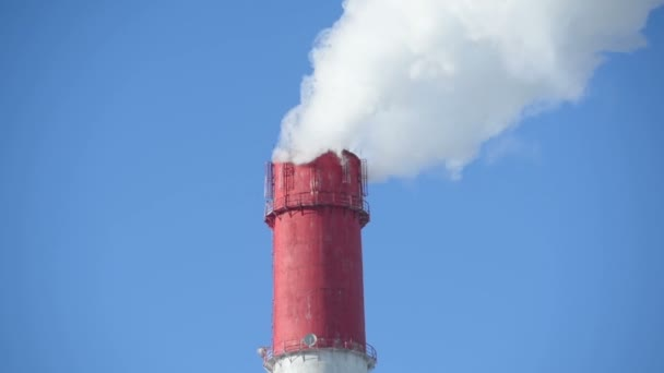 The smoke from the chimney of the thermal station. Generation, power grid