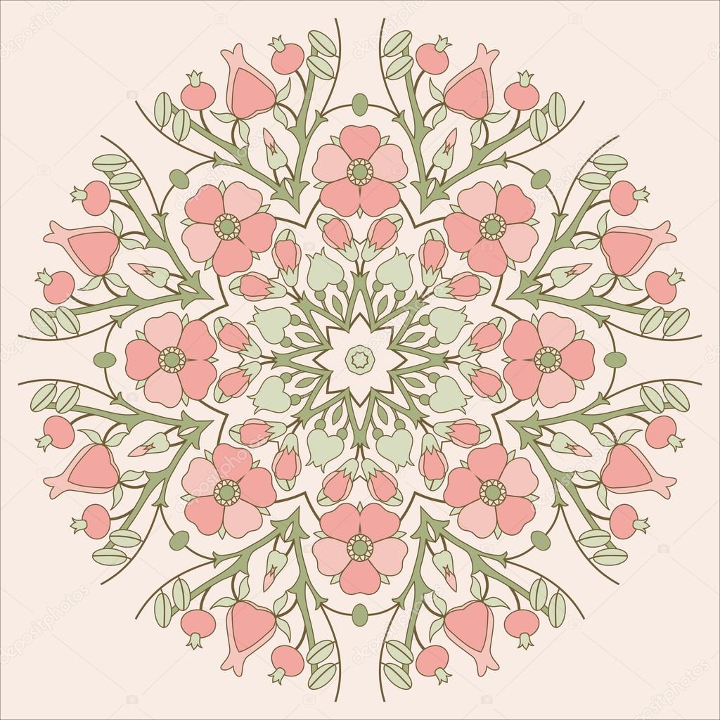 Ретро квіткові кола Орнамент — Стоковий вектор — вектор © Irmairma ... 727c2b2b6c35d