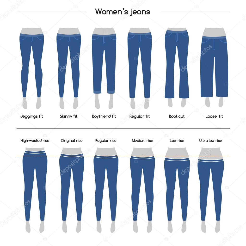 Collection Of Women S Jeans Vector Image By C Irmairma Vector Stock 121500064