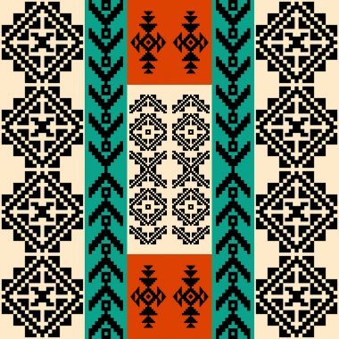 Abstract geometric background with traditional ethnic motifs
