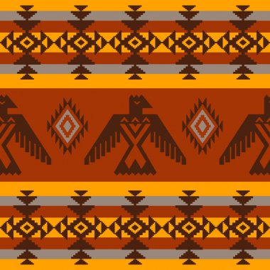 Ethnic seamless pattern on tribal native american style