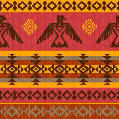 Eagles ethnic style pattern