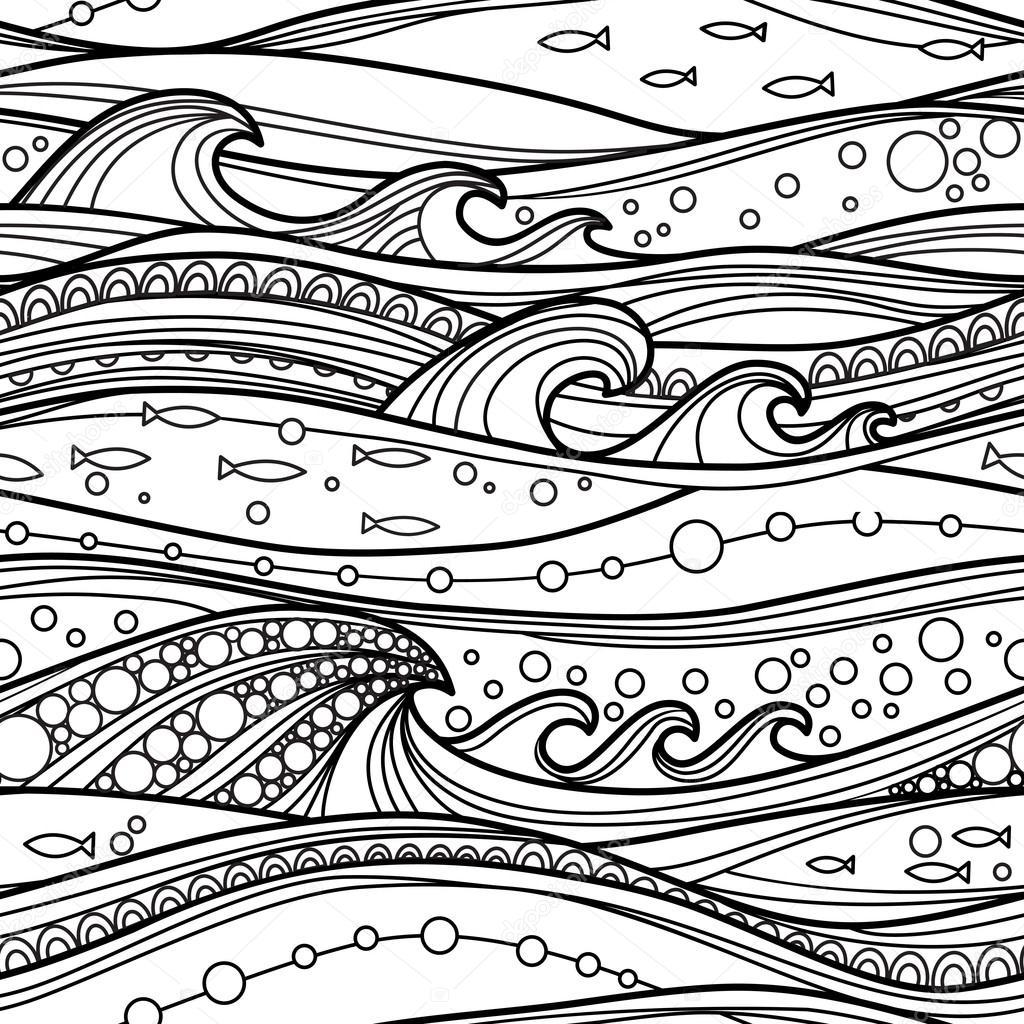 Sea black and white pattern