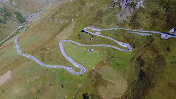 Aerial view of the Grossglockner high Alpine road in Austria