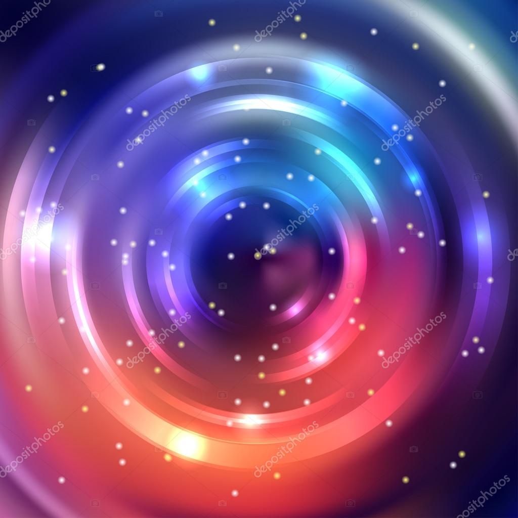 Abstract Circle Background Vector Design Orange Pink
