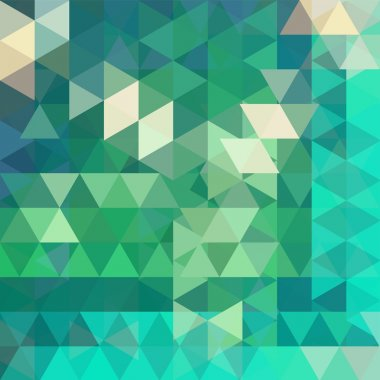 Geometric pattern, triangles vector background in green tones. Illustration pattern. Green background.