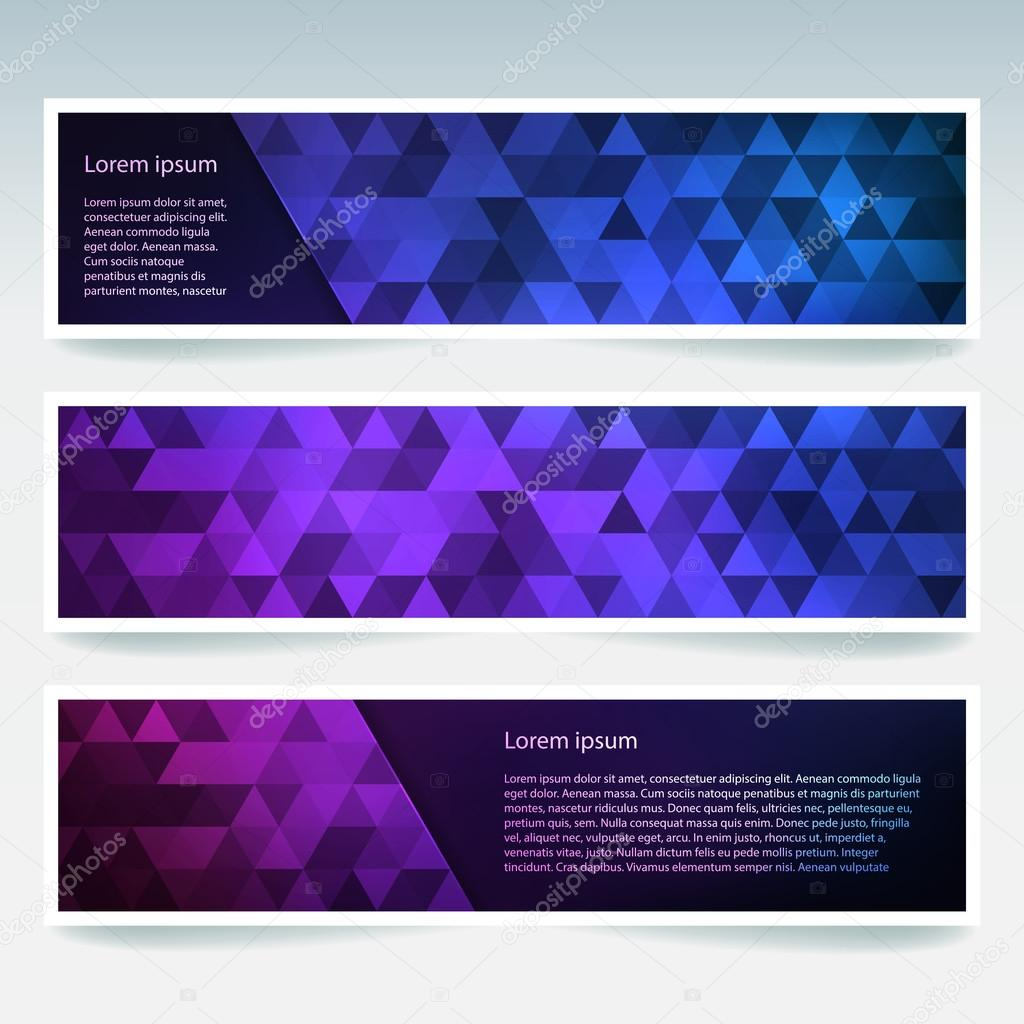 set of banner templates with abstract background modern vector