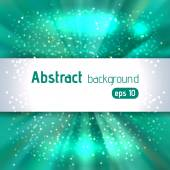 Rays background with place for text. Abstract motion blur background with power explosion. Vector illustration. Blue, green colors.