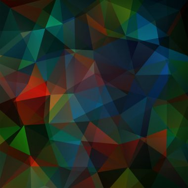 Background made of triangles. Square composition with geometric shapes. Eps 10 Blue, green, brown colors