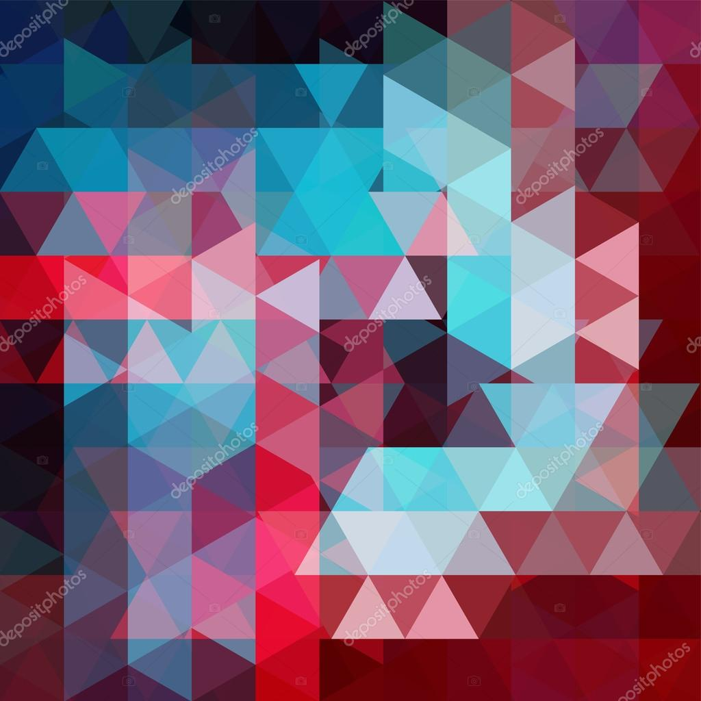 Abstract Vector Background With Triangles Colorful