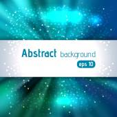 Vector illustration of abstract background with blurred magic light rays, vector illustration. Blue color.