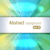 Colorful rays background with place for text. Abstract motion blur backdrop with power explosion. Vector illustration. Light yellow, green, blue colors.