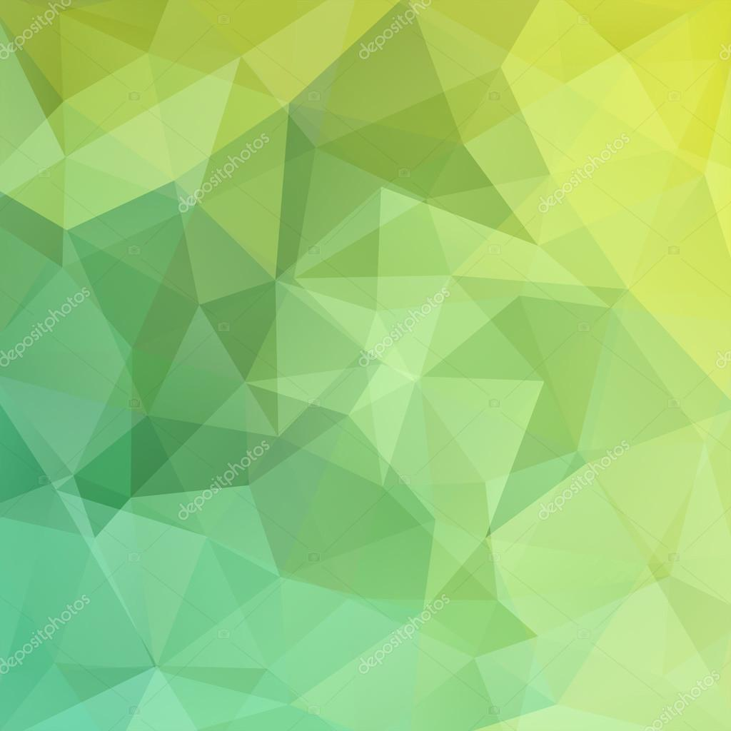 abstract polygonal vector background green geometric illustration