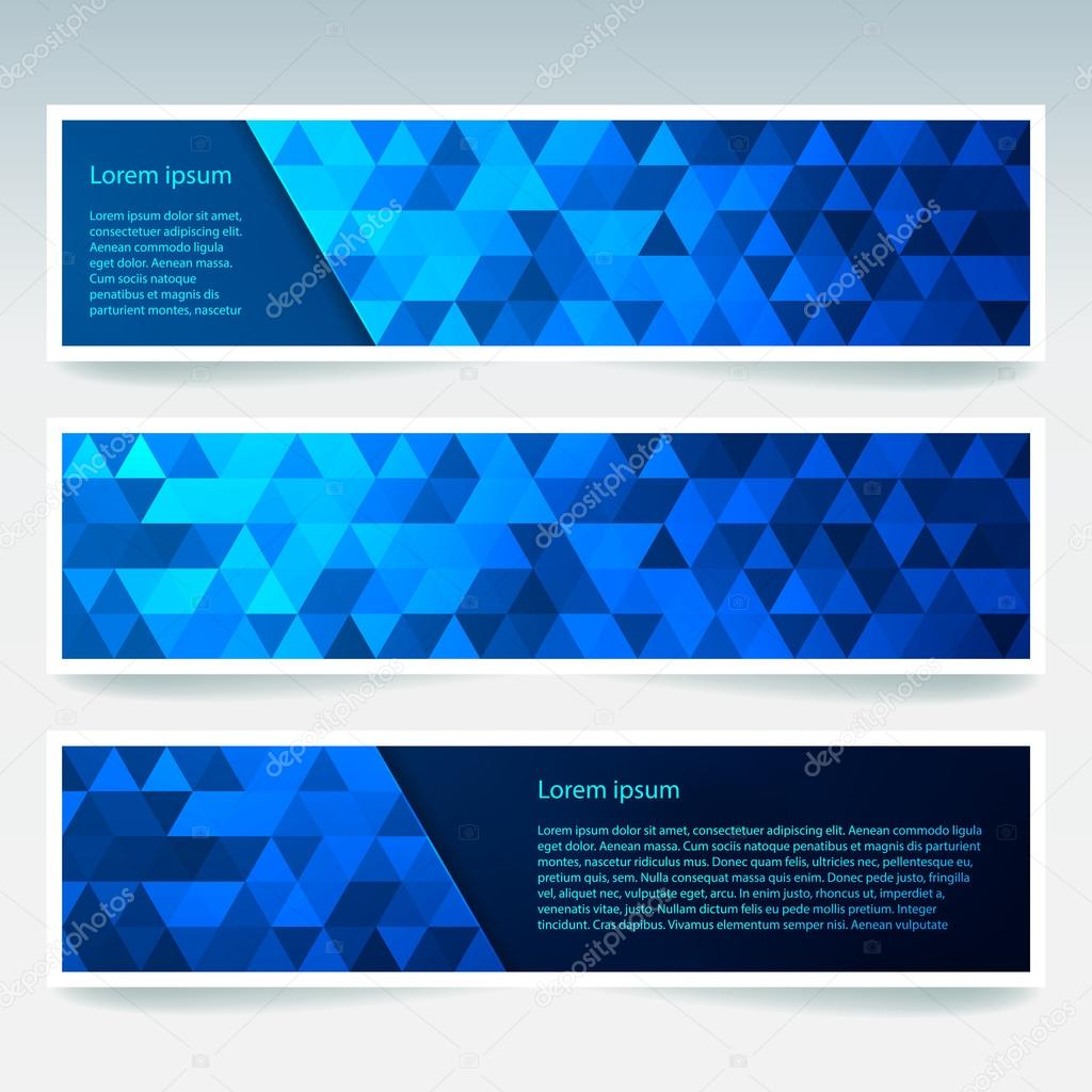 abstract banner with business design templates set of banners with