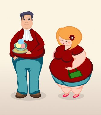 Man and woman on dating