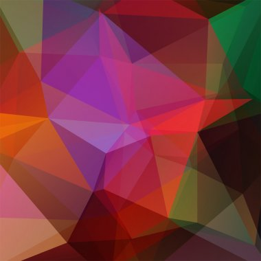 background consisting of triangles