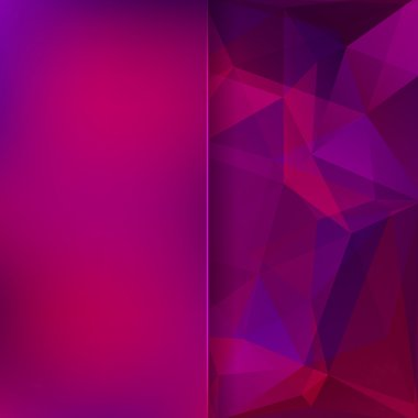 abstract background consisting of pink, purple triangles and mat