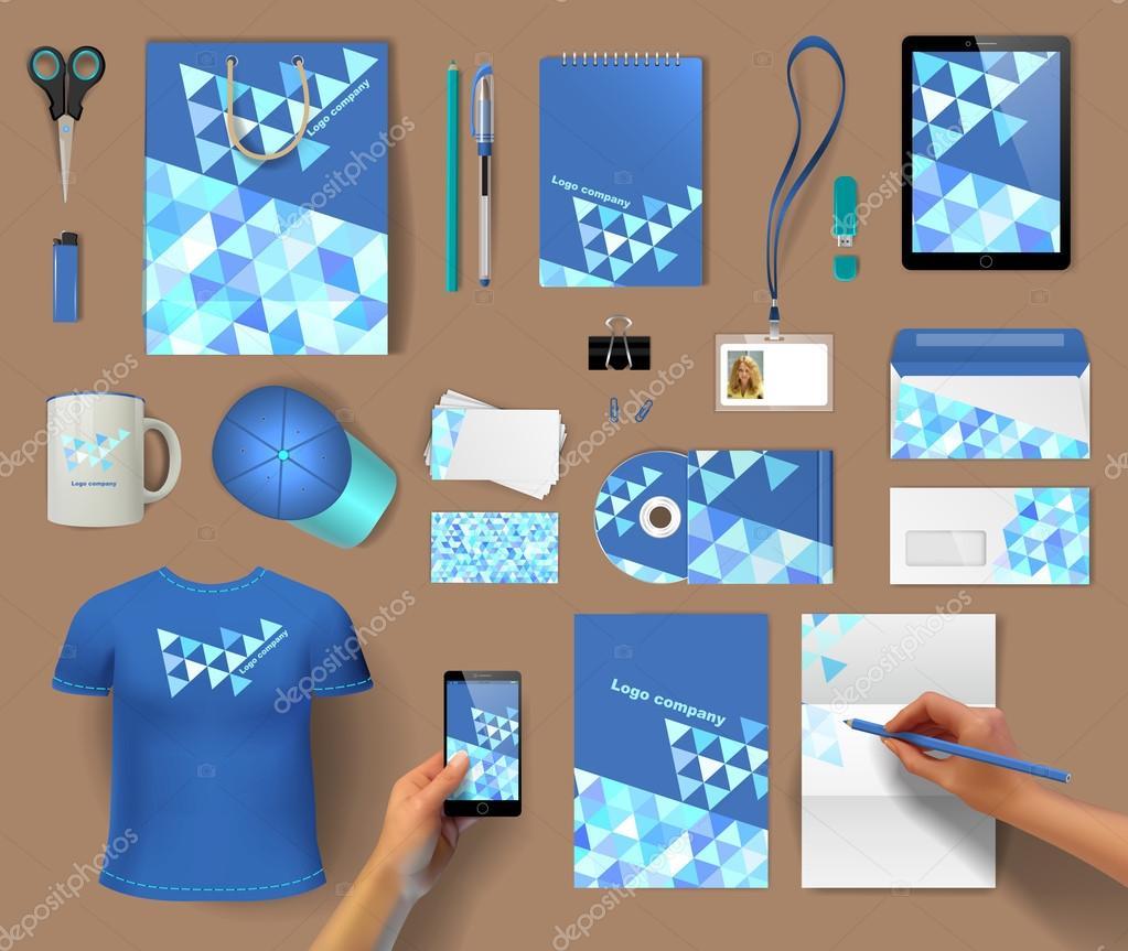 Corporate Identity Vorlagen Blank Visitenkarten
