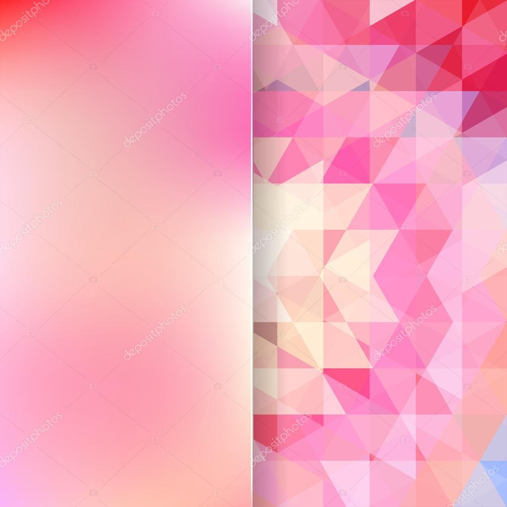 Sfondo Astratto Costituito Da Triangoli Rosa E Vetro Opaco
