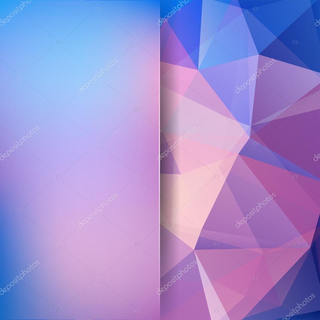 Zusammenfassung Hintergrund der Dreiecke aus. Rosa, blaue Farben ...