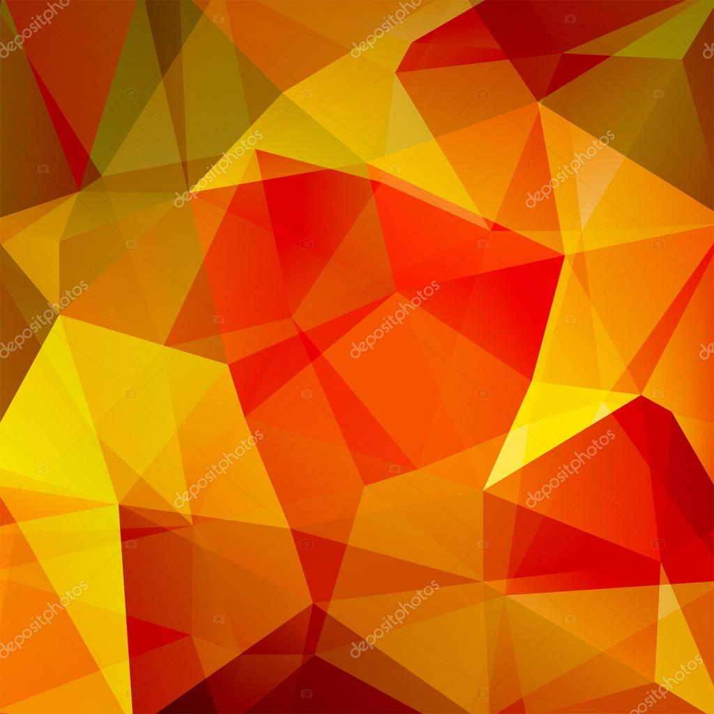 Abstract Background Consisting Of Triangles. Yellow, Red