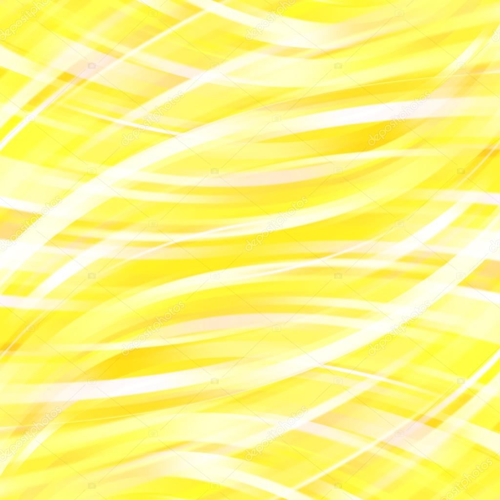 Abstract Yellow Background With Smooth Lines Yellow White